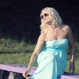 Mooie hogere blondevrouw Royalty-vrije Stock Fotografie