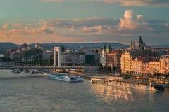 Mooie Hoofdstad van Boedapest in Hongarije stock foto