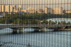 Mooie hoogste mening over het panorama van de stad Royalty-vrije Stock Afbeeldingen