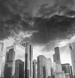 Mooie horizon van de Gebouwen van Chicago en Wolkenkrabbers, Illinois Royalty-vrije Stock Fotografie