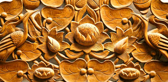 Mooie houten gravure royalty-vrije stock afbeelding