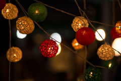 Mooie houten lampen Stock Afbeelding