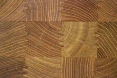 Mooie houten textuur als achtergrond met regelmatig vierkant houten elementenpatroon Stock Fotografie