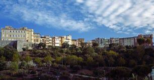 Mooie huizen op de klip in Monaco Stock Afbeelding
