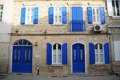 Mooie huizen van Alacati, compatibel met nostalgisch en aard Stock Afbeelding
