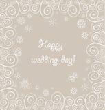 Mooie huwelijks kanten groet Royalty-vrije Stock Afbeelding