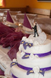 Mooie Huwelijkscake Royalty-vrije Stock Foto's