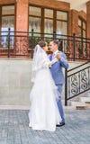 Mooie huwelijksdans stock afbeeldingen
