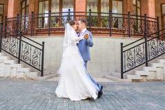 Mooie huwelijksdans stock foto's