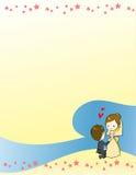 Mooie huwelijksuitnodiging Stock Foto