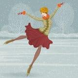 Mooie ijsschaatser Stock Afbeeldingen