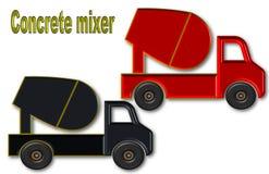 Mooie illustratie van concrete mixer met ruimte voor embleem en reclame stock illustratie