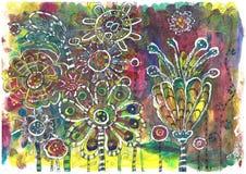 Mooie illustratie van een bloem stock illustratie