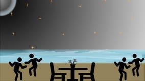 Mooie Illustratie van een Zonsondergangachtergrond stock illustratie