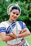 Mooie Indische danser Royalty-vrije Stock Afbeeldingen