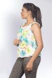 Mooie Indische de studio witte achtergrond van de tienertroep Royalty-vrije Stock Afbeeldingen