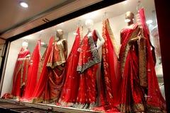 Mooie Indische kleding voor vrouwen Stock Foto's