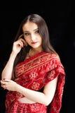 Mooie Indische vrouw Stock Foto's