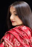 Mooie Indische vrouw Stock Afbeelding