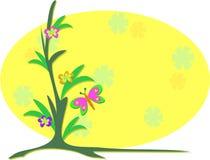 Mooie Installatie met het Frame van de Vlinder stock illustratie