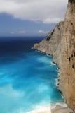 Mooie Ionische Overzees, Zakynthos Griekenland Royalty-vrije Stock Afbeeldingen