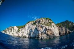 Mooie Ionische Overzees in Zakynthos, Griekenland Stock Afbeeldingen