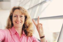 Mooie 35 jaar oude vrouwen Royalty-vrije Stock Fotografie