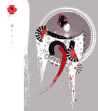 Mooie Japanse geishaachtergrond Stock Fotografie