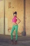 Mooie jonge Afrikaanse Amerikaanse vrouw Royalty-vrije Stock Foto's