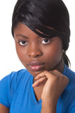 Mooie jonge Afrikaanse vrouw stock foto's
