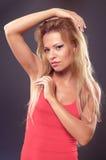 Mooie jonge blonde vrouw Royalty-vrije Stock Foto