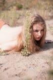 Mooie Jonge Blonde Vrouw Royalty-vrije Stock Afbeeldingen
