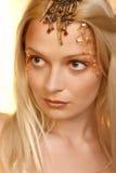 Mooie jonge blonde vrouw. Portret royalty-vrije stock afbeeldingen