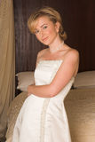 Mooie jonge bruid stock fotografie