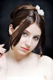 Mooie jonge bruid stock foto