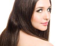 Mooie jonge brunette Stock Afbeelding