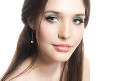 Mooie jonge brunette Stock Afbeeldingen