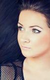 Mooie jonge brunette Stock Foto's