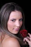 Mooie jonge donkerbruine vrouw Stock Fotografie