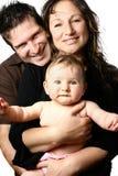 Mooie jonge familie Royalty-vrije Stock Afbeeldingen