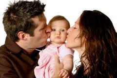 Mooie jonge familie Stock Afbeelding