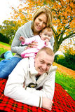 Mooie jonge familie Royalty-vrije Stock Foto