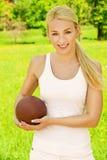 Mooie jonge sportvrouw Stock Fotografie