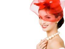 Mooie jonge vrouw Stock Foto's