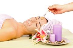 Het genieten van van Behandeling Wellness Royalty-vrije Stock Foto