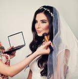 Mooie Jonge Vrouw Fiancee met Bruids stock afbeeldingen