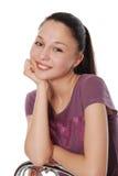 Mooie jonge vrouw in geïsoleerde_ manierkleren Royalty-vrije Stock Afbeeldingen