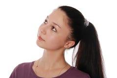 Mooie jonge vrouw in geïsoleerdet manierkleren Royalty-vrije Stock Foto