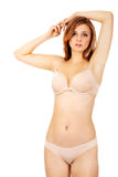 Mooie jonge vrouw in ondergoed Stock Afbeeldingen