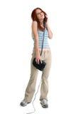 Mooie Jonge Vrouw op Telefoon royalty-vrije stock fotografie